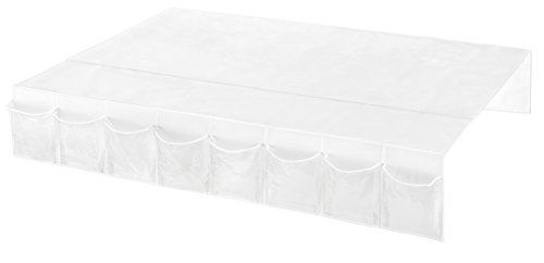 Whitmor Bedskirt Storage Organizer Clear