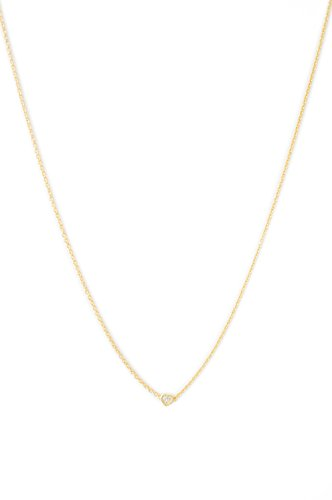 HONEYCAT Crystal Micro Pave Mini Heart Necklace in 24k Gold Plate | Minimalist, Delicate Jewelry (Gold)