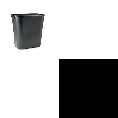 KITICE64113RCP295600BK - Value Kit - Iceberg Rough N Ready Series Original Stackable Chair (ICE64113) and Rubbermaid-Black Soft Molded Plastic Wastebasket, 28 1/8 Quart (RCP295600BK) by Iceberg
