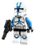 Lego Star Wars Minifigure 501st Legion Clone Trooper with Short Blaster from Set 75002 75004 ()