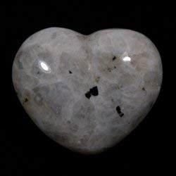 Moonstone Rainbow Crystal Heart ~45mm