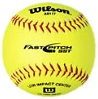 WILSON Wta9117t 30,5 cm Optic Jaune doux de compression Centre Optic Jaune Softballs (1-dozen)