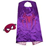 Kids Capes Spiderwoman and Mask Set Spider Girl]()