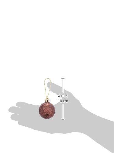 1.6-Inch Vickerman 4-Finish Ornament Set Burnish Orange N595418A Includes 96 Per Box