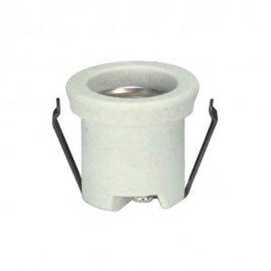 Medium Base Lampholder Shallow Shoulder Socket Porcelain Snap In