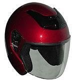 DOT Wine Red Open Face Motorcycle Helmet with Flip-up Face Shield (Size L, LG, Large) -