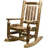 Montana Woodworks Glacier Country Collection Children's Log Rocker