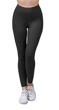 90 Degree by Reflex High Waist Power Flex Tummy Control Leggings - Black - X-Small