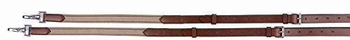 Henri de Rivel Side Reins - Leather with Elastic Insert ()