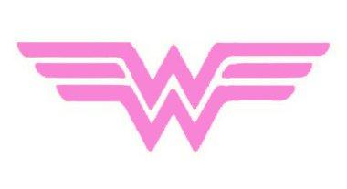 (Wonder Woman Decal Vinyl Sticker Cars Trucks Vans Walls Laptop  Pink  5.5 x 2.5 in CCI1303)