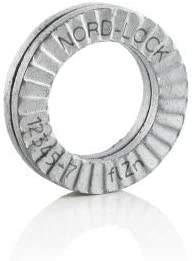 - Pkg of 20, #5 M3 Carbon Steel Nord-Lock 1512 Wedge Locking Washer 1512 Delta Protekt Pack of 5