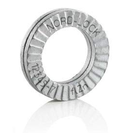 2 - Pkg of 25 Carbon Steel M52 Delta Protekt Nord-Lock 1364 Wedge Locking Washer 1364