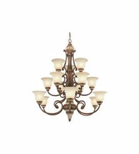 Dolan Designs 2643-211 Bonita 15 Light 3 Tier Chandelier, Yuma