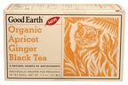 Good Earth Organic Apricot Ginger Black Tea, Black Tea With Organic Natural Flavors, 18 Count Tea Bags, 1.30-Ounce Boxes (Pack of 6) ( Value Bulk Multi-pack)