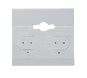 Beadaholique Earring Hang Cards Grey Flocked 1.5 X 1.5 Inches (100) 4336834660