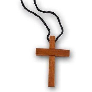 Cross 48 Wholesale Wooden Necklaces ()