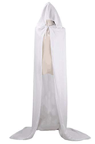 Più Cosplay Incappucciato Halloween Di Mantelli Sopliagon Costume Le White Donne Dimensioni 6Zwwp8