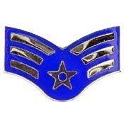 Air Force Rank Insignia (Metal Lapel Pin - US Air Force Insignia Of Rank Pin - USAF Senior Airman 1