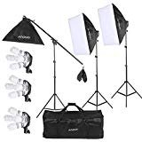 Andoer Photography Lighting Softbox Backdrop Kit, Photo Video Studio Stand Kit for Studio Photography and Video Lighting+ Carrying Bag from Andoer