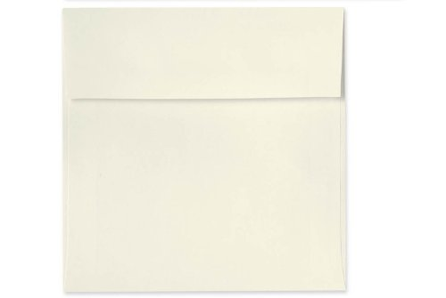 6 1/2 x 6 1/2 Square Invitation Envelopes w/Peel & Press - Natural (50 Qty.) Photo #2