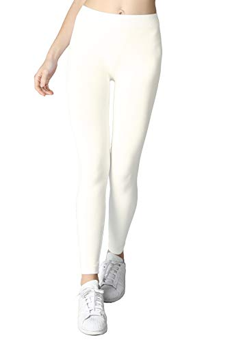 Nikibiki Long Smooth Leggings,Ivory,One Size