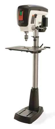 "Floor Drill Press, Belt, 16-7/8"", 3/4HP, 120"