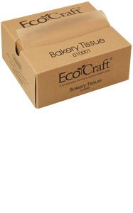 EcoCraft Interfolded Dry Wax Tissue NK6T Natural 6 x 10 3/4 (Case of 10 @ 1000) by EcoCraft