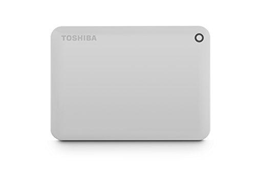 Toshiba Canvio Connect II 2TB Portable Hard Drive, White (HDTC820XW3C1)