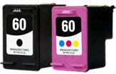 Generic Remanufactured Ink Cartridges Replacement for HP 60 (Black, Color, 2-Pack)