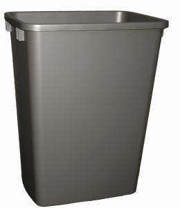 Replacement Waste Bins - Rev-A-Shelf 35Qt Replacement Waste Bin Silver