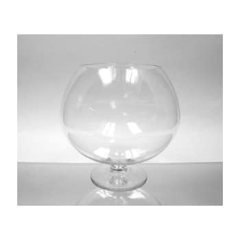 Amazon Wgv Clear Brandy Wine Shaped Bubble Bowl Glass Vase On