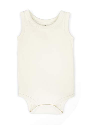 Colored Organics Unisex Baby Organic Cotton Bodysuit - Infant Tank Onesie - Natural - Newborn 0-3M