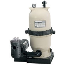 Pentair Clean & Clear 100 Square Foot Swimming Pool Cartridge Filter System with 1.5 HP OptiFlo Pump - PNCC0100OO1160 ()