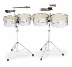 REMO Timbales, Valencia, 13''/14'' Diameters, With Stand by Remo