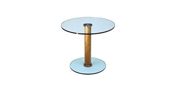 futureglass 600 Transparente de diámetro Mesa Auxiliar de Mando a ...