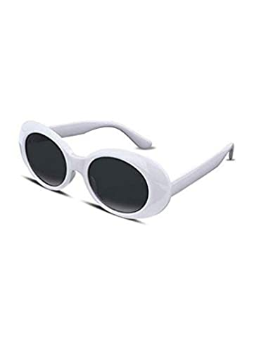 27ddf827d2 Amazon.com  Clout Goggles Oval Mod Retro Thick Frame Rapper Hypebeast  Eyewear Supreme Glasses Cool Sunglasses (5 PACK  ...