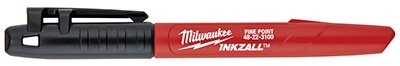 Milwaukee 48-22-3100 INKZALL Black Fine Point Marker - Quantity 36