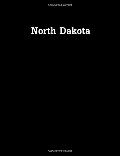 North Dakota: 8.5 x 11 bullet journal  100 dotted notebook pages usa states