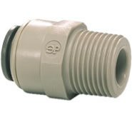 John Guest Acetal Copolymer Tube Fitting, Straight Adaptor, 3/8'' Tube OD x 3/8'' BSPT Male (Pack of 10) by John Guest