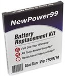 NewPower99 Battery Replacement Kit with Battery, Video Instructions and Tools for TomTom Via 1530TM