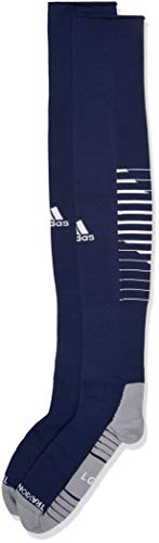adidas Team Speed II Soccer Socks, (1-Pack), dark blue/white/light Onix, 5-8.5