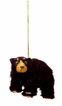 4 rustic lodge furry black bear christmas ornament by cc christmas decor