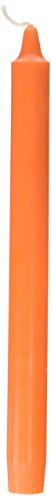 Zest Candle 12-Piece Taper Candles, 10-Inch, Orange Straight ()