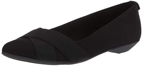 Anne Klein Women's OLISE Ballet Flat Black, 8 M US ()