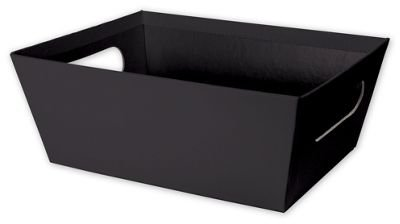 Solid Color Specialty & Event Boxes - Black Market Trays, 9 x 7 x 3 1/2