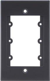 (Kramer Electronics Frame-1G Frame for Wall Plate Inserts, 1 Gang,)