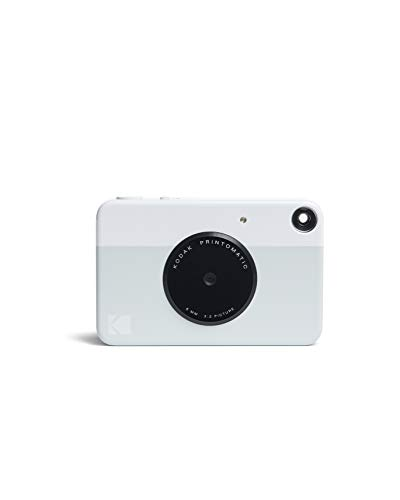 White Black Camera Disposable - Kodak PRINTOMATIC Digital Instant Print Camera (Grey), Full Color Prints On ZINK 2x3