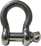 ArkHardware 3/16'' Screw Pin Anchor Shackle Chain Shackle D Shackle Twisted Shackle Cable Railing Rigging Deck Boat Sailing Dock Stainless Steel Type 316 Marine Grade (Screw Pin Anchor-10 Shackles)
