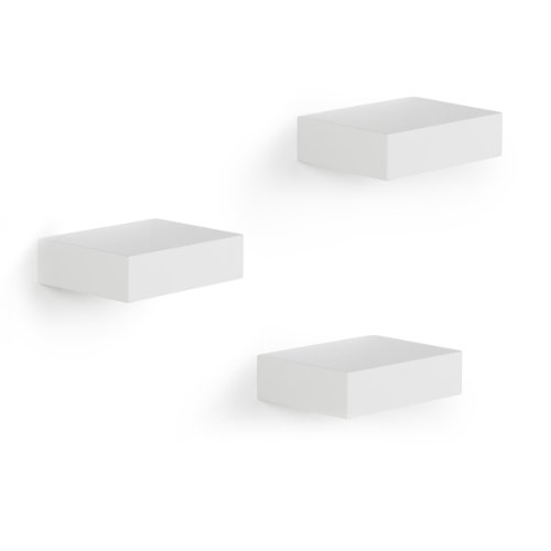 Umbra Showcase Display Shelves, White, Set of 3 ()