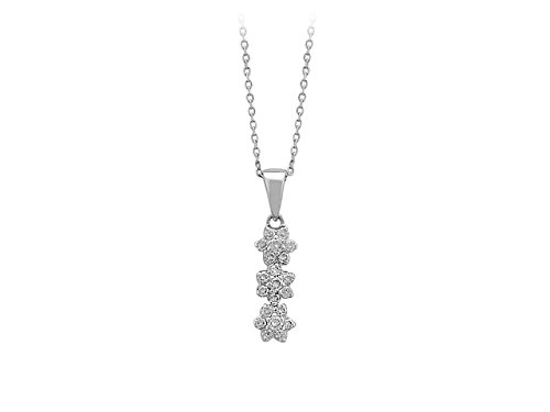 Collier de Diamants-Femme- or Blanc 204P0001